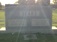 Headstone - Ralph Westgate Sears and Marcia Janis Mockett