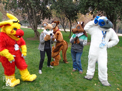 DSC00200 (Thanriu) Tags: fursuit chile meet junta furry santiago friends amigos canid monster avian ave canino monstruo badge angel dragon parrot artic wolf yerik dog