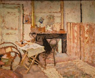 Edouard Vuillard - Ker Xavier Roussel Reading, 1904 at Saint Louis Art Museum - St Louis MO