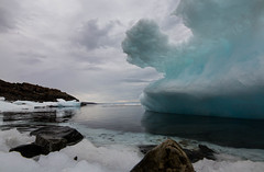 Tidal Storm (Clare Kines Photography) Tags: arctic nunavut arcticbay victorbay scenic overcast canada north seaice rain ice