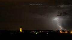 Mise en lumière (FlΩmega) Tags: foudre orage eclair light architecture nuit nocturne nikkor nikon florianmorlotphotographies 85mm f14 tour lorraine france