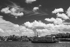 DSC00531 (Damir Govorcin Photography) Tags: boat water sea sydney harbour monochrome blackwhite sky clouds wide angle zeiss 1635mm sony a7rii natural light