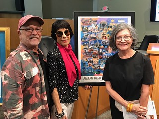 George Neary and Erika King with Liana Pérez at Erika's show