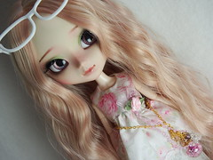 Pullip FC (sh0pi) Tags: mikiyochii pullip fu full custom ooak mio kit one kind groove fashion doll diy spring rose rosen blumen flowers leekeworld wig pinkcocktail pink sparkles