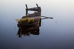 jetty (Stefano Rugolo) Tags: stefanorugolo pentax k5 smcpentaxda1855mmf3556alwr jetty light water lake reflections wood hälsingland sweden sverige vatten brygga ljus flickr minimal abandoned