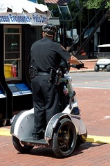 Rush to judgment (dangr.dave) Tags: fortworth tx texas cowtown tarrantcounty panthercity downtown historic architecture mainstreetartsfestival 2017 cop police segway
