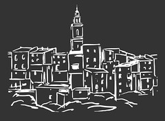 Silueta ✹ Bocairent, Valencia [2017] (Carlos Gonga) Tags: drawing dibujo diseño design painting blackboard arteurbano picture cuadro bocairent comunit comunitatvalenciana silueta silho silhouette blackandwhite blackwhite blancoynegro byn bn