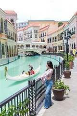 Gondola watching (Kostas Trovas) Tags: watching taguig portrait venicegrandcanalmall color gondola pose filipina hdr canal architecture beautiful denim curve woman manila filippines model boat composition mckinleyhill outdoors