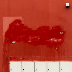 (morbs06) Tags: 2017 france nantes paysdelaloire abstract architecture box building colour facade lines red rot square stripes texture wall white