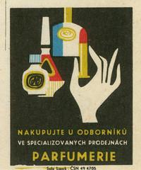 czechoslovakian matchbox label (maraid) Tags: packaging household goods shops czechoslovakia czechoslovakian matchbox label czech hand perfume makeup lipstick parfumerie