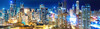 Big City Night Pano (Sky Noir) Tags: downtown chicago illinois usa cityscape skyline night glow lights tall buildings skyscraper skynoir nikon longexposure