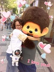 Happy Hug💕 (cute-little-dolls) Tags: monchhichi hug happy love friends spacecarrier fesmonchhichi collaboration event kiddyland harajuku sekiguchi