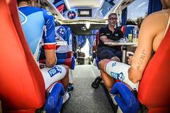 Tour de France 2017 #Behind the Scene (equipecyclistefdj) Tags: detail insta bus détail tatoo tatouage