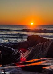 Sunrise over the shore (SMPhotos2548) Tags: shore jerseyshore nj newjersey beach rock ocean longbranch sunrise