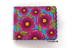 Flores en el àtico (helarraga) Tags: flower summer paper collage wallet fucsia blue