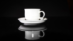 coffee cup (grahamrobb888) Tags: nikon nikond800 nikkor 3570mm manual contrast coffee drink reflection cup demitasse highlight stilllife speedlight flash black white