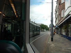 Inside outside (sander_sloots) Tags: tram streetcar ret rotterdam tramway bergweg noordsingel alstom citadis noord schréder medio streetlight spanwire spandraad armatuur