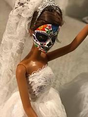 Comission of a Barbie in Sugar Skull- Dia de Muertos design (its ErikaSalazar) Tags: oneofakind ooak custom repaint barbie dayofthedeath calaverita sugarskull diademuertos
