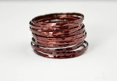 **Free Domestic Ship (alaridesign) Tags: free domestic shipping for all orders over 50 use coupon code shipfree50 super thin cherry copper stacking ring these rings 11 each choose number you alari