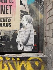 Small burdens I (aestheticsofcrisis) Tags: street art urban interventions streetart urbanart guerillaart graffiti postgraffiti barcelona spain raval europe wheatpaste pasteup
