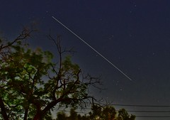 Visible International Space Station Pass Over The Neighbor's Half-Dead North Texas Oak Tree (Cowboy Dan Paasch) Tags: fort worth light pollution