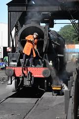 LMS Black Five No.44806 at Grosmont MPD on 1st April 2017 [NYMR] (soberhill) Tags: rail railway train steam 2017 northyorkshiremoorsrailway nymr lms blackfive black5 44806 grosmont mpd