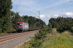 """193 502 """"PKPC"""" mit leeren Flachwagen - 21.07.2017 - Rohrsen (D) (Frederik L.) Tags: db bahn zug eisenbahn güterzug pkp lok lokomotive baureihe siemens 193 bahnhof privatbahn nienburg"""