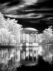 Bandstand at Roger Williams Park (ms2thdr) Tags: monochrome urbanpark rogerwilliamspark rhodeisalnd ri providence bw bwinfrared park providencein850nm