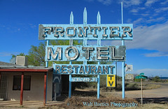 The Frontier Motel and Restaurant (Walt Barnes) Tags: truxton arizona canon eos 60d eos60d canoneos60d wdbones99 topazsoftware pse15 history vintage old historic structure architecture building route66 vintagesign faded abandoned neon window