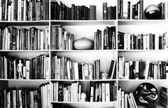 Bibliophile (WinRuWorld) Tags: books bibliophile blackwhite blackandwhite bw monochrome postshotedit canon canon60d canoneos60d ruthwinfield efs1855mmf3556isii grainy bookcollection booklove