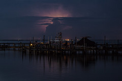 Pre dawn lightning (in Explore) (mimsjodi) Tags: indianriverlagoon sunrise river sky clouds veteransmemorialpark