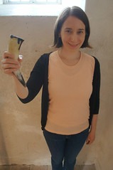 raising the drinking horn (kendradrischler) Tags: visby drinkinghorn me pink museum