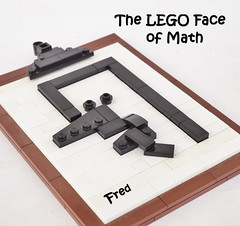 The LEGO Face of Math (gid617) Tags: lego lifeoffred math clipboard