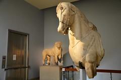 Lion And Horse (Joe Shlabotnik) Tags: lion sculpture london statue 2017 britishmuseum april2017 marble horse museum england afsdxvrzoomnikkor18105mmf3556ged