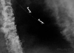 Chase! (micallrob) Tags: airshow bray blackandwhite blackwhite mono monochrome monochromatic monochrone planes plane aeronautics aeroplane cloud clouds chase fly flying white black sky air 2017 canon5dmark canon5dmk2