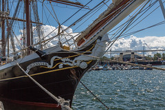 Tallinn Maritime Days 2017 On Seaplane Harbour (Estonian Maritime Museum) (AudioClassic) Tags: sea vessel ship yacht ocean boat nautical sailboat transportation yachting tall wind cruise navigation transport rigging wooden marine travel regatta maritime sport sailing sky sail historic mast rope vintage blue old detail equipment wood navy deck frigate tackle water antique adventure pirate freedom boating race romantic crew speed team line waves tallship construction ancient ladder timber outdoor explorer luxury windy voyage shipping vehicle sailingship anchor sailor captain tide closeup
