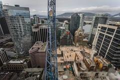 Vancouver BC - Exchange Tower (34) (doublevision_photography) Tags: vancouver vancouvercity vancouverrealestate vancouverbc vancouverskyline vancity vancouvercanada jasocrane constructioncrane vancouverconstruction roofing vancouverroofing contruction towercranephotography flyingtables tableflying