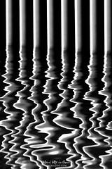 El sismógrafo (Mimadeo) Tags: reflection reflections water abstract background wave liquid ripple sea pattern ocean aqua nobody rippled blackandwhite bars black white