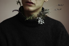 (▲·stardust) Tags: nach boy choking anxiety sweater neck plants deadnature project jaquelinelarsen lips pictorial