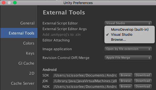[Unity] Visual Studio for Mac