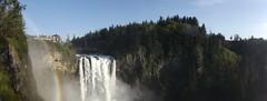 Snoqualmie Falls (artofjonacuna) Tags: snoqualmie falls rainbow waterfall washington panoramic