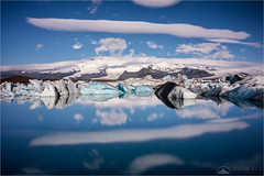 Blue World (Maciek Gornisiewicz) Tags: jokulsarlon glacier lagoon iceland europe landscape iceberg ice clouds reflections travel mountains outdoors canon 5div 24105mm maciek gornisiewicz darkelf photography blueworld 2017