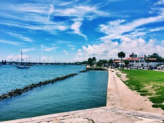 Views From The Pier Pt.1 (daltoniiames) Tags: natural outdoors outside earth nature bridge sailboats sailboat sail boats boat architecture calming relaxing vibrant colorful sky waves water sea ocean beach historic city day summer vacation travel 2017 usa florida marcos san de castillo pier the from views
