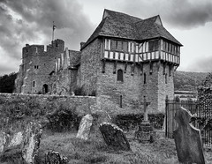 Stokesay castle (Tim Ravenscroft) Tags: stokesay castle tower medieval graveyard monochrome blackandwhite blackwhite hasselblad hasselbladx1d
