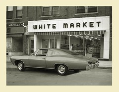 White Market (gpholtz) Tags: diorama miniatures 118 diecast chevrolet impala 1967