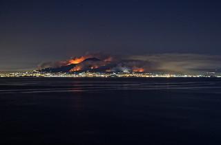 Mount Vesuvious, wildfires on the volcano