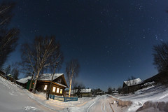 Christmas Eve (Nikita Vinogradov) Tags: freeze vilage starry