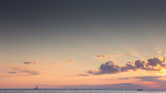 Sunset at the adiratic sea (fritz polesny) Tags: canon6d 24105mm piran slovenia evening sea