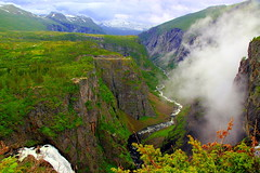 Natural wonders of waterfalls, mountains and valleys - this is picturesque Norway (mark.paradox) Tags: norway landscape nature waterfall woringsfossen valley mountain water view rock top stream mabodalen hordaland beauty picturesque scenic europe scandinavia