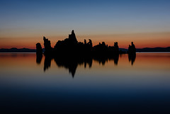 South Tufas At Dusk, Mono Lake (Basak Prince Photography) Tags: 395 black blue calm colors dawn dusk easternsierra monolake red serenity silhouette southtufas summer sunrise